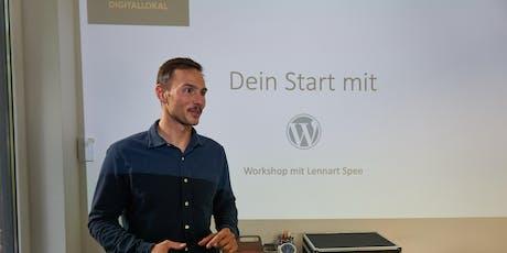 Dein Start mit Wordpress Tickets