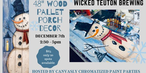 "*new* 48"" Snowman Pallet Porch Sign @ Wicked Teuton"