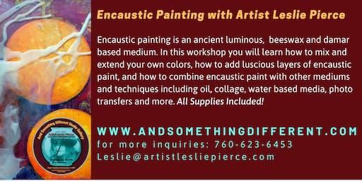 Encaustic Painting Workshops with Artist Leslie Pierce