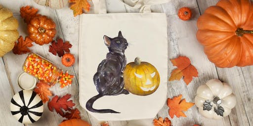 Halloween learn to paint with Kate Wyatt