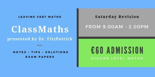 One Day Leaving Cert Maths Revision in Wexford