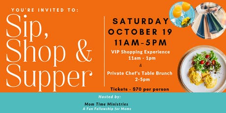Sip, Shop & Supper tickets