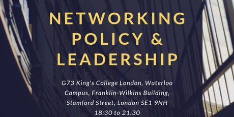 Networking: Policy & Leadership tickets