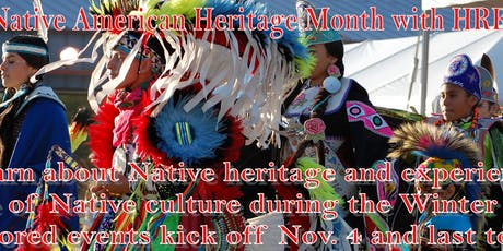 Native American Month presentations and classes tickets