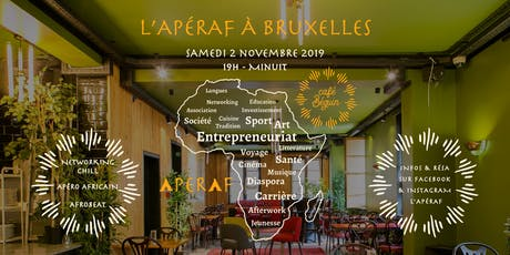 L'Apéraf à Bruxelles  • Sam. 02/11  • Rdv à 19h au Café Béguin billets