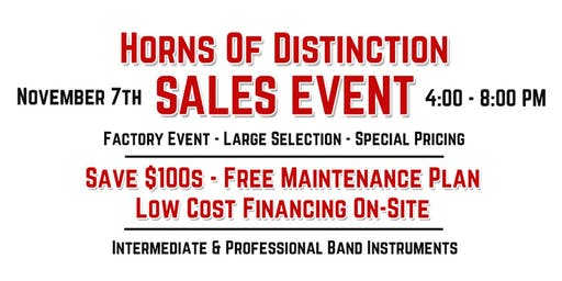 Horns of Distinction Band Instrument Sales Event