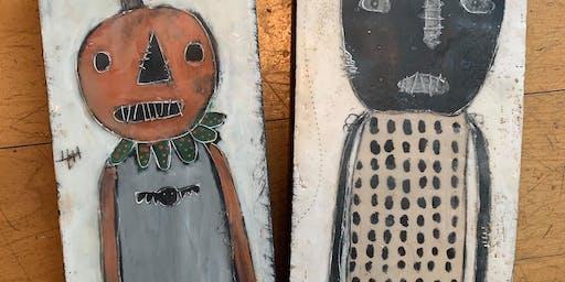Vintgage Pumpkin/Cat Workshop
