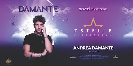 Andrea Damante - 7 Stelle - 31 ottobre 2019 - Halloween biglietti