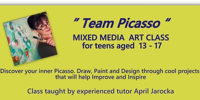 Mixed Media Art Class for Teenagers