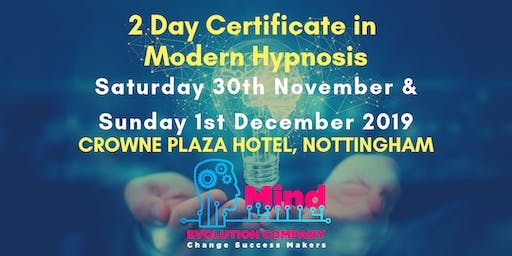 2 Day Certificate in Modern Hypnosis