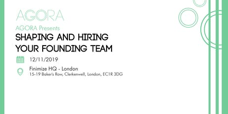 Shaping and Hiring Your Founding Team tickets
