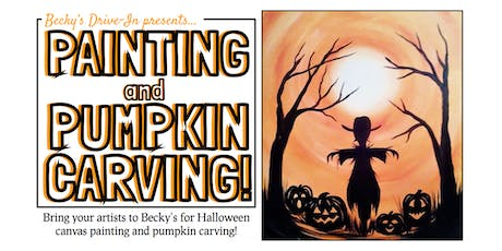 Becky's Drive In Presents: Halloween Painting & Pumpkin Carving! tickets