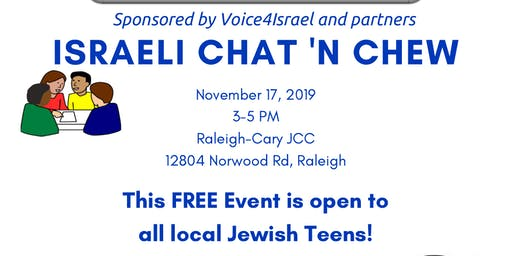 Israel Chat & Chew for Local Jewish Teens
