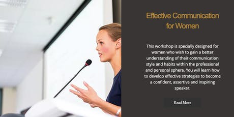 Effective Communication for Women tickets