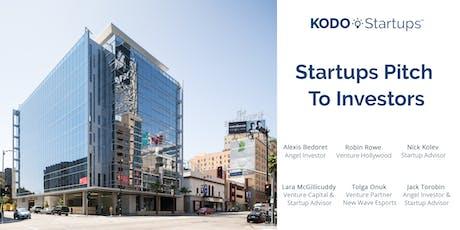 Startups Pitch To Investors tickets