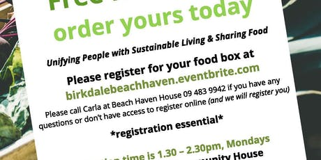 Community Eats Pick up 9th December Delivering Rescued food to Beach Haven tickets