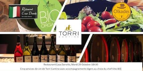 Dégustation des vins de Torri Cantine chez Danvito billets