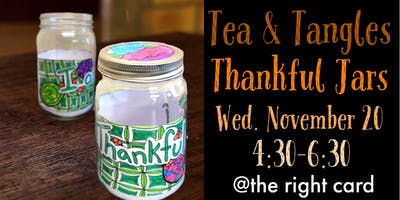 Tea & Tangles: Thankful Jars