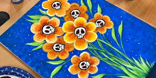 Day of the Dead Flower Painting Class