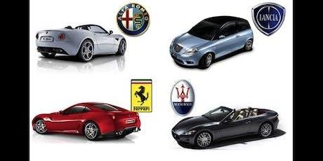 "11/10 ""Italian Stallions"" (Ferrari, Alfa, Lamborghini, Maserati) tickets"