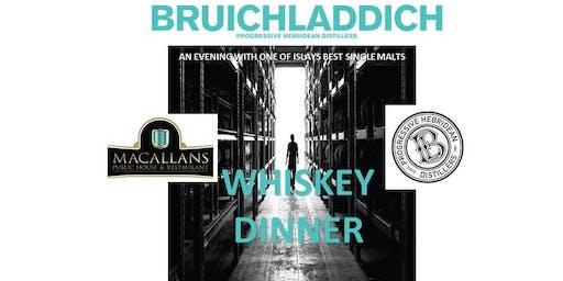 BRUICHLADDICH 5-COURSE WHISKEY DINNER
