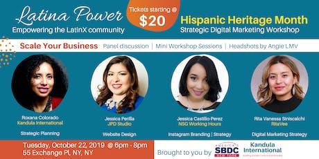 Hispanic Heritage Month: Strategic Digital Marketing Workshop tickets