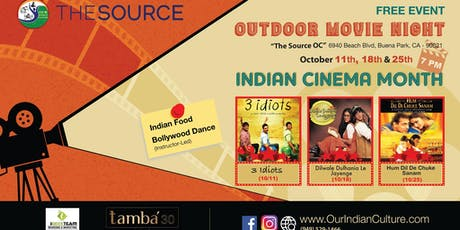 """""""DDLJ"""" Outdoor Bollywood Movie Night at The Source OC Mall tickets"""