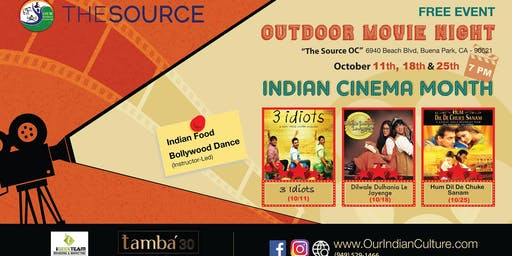 """""""DDLJ"""" Outdoor Bollywood Movie Night at The Source OC Mall"""