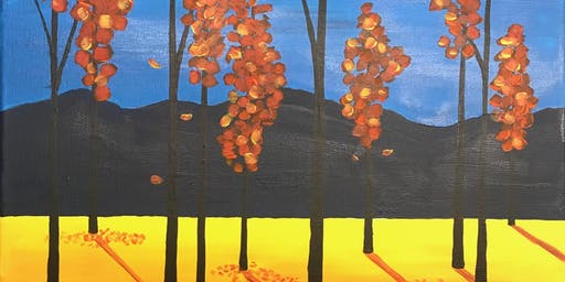 Paint Night for adults--Autumn Sunrise--no experience nec, really!