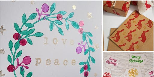 Norwich Creative Market - Christmas Hand Printed Stationary Workshop