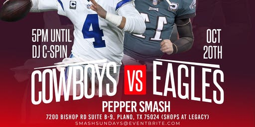 COWBOYS VS EAGLES  WATCH PARTY @ PEPPER SMASH ( inside the Shops at Legacy)