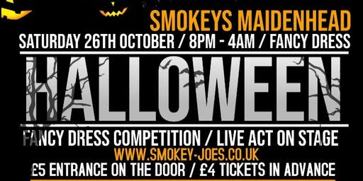 SMOKEYS HALLOWEEN SPECIAL / SATURDAY 26TH OCTOBER TICKET