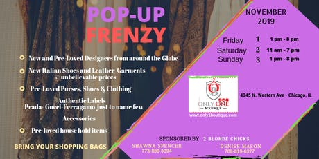 POP-UP FRENZY Sale tickets