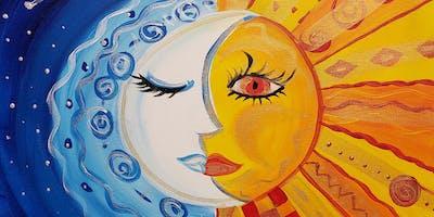 Sun & Moon Painting Party at Brush & Cork