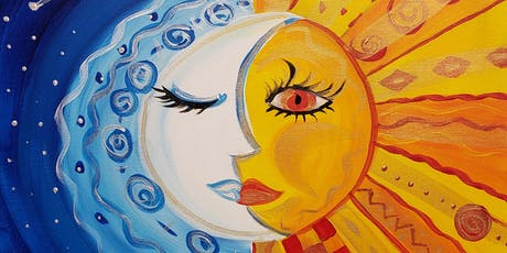 Sun & Moon Painting Party at Brush & Cork tickets