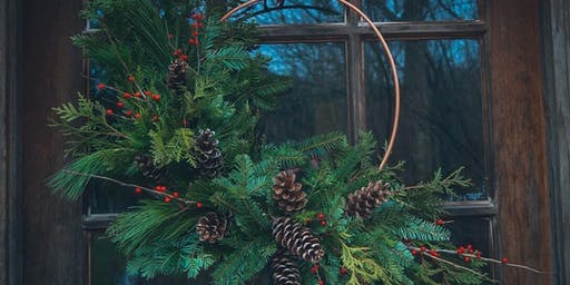 Copper Ring Wreath Workshop at Barrel + Beam
