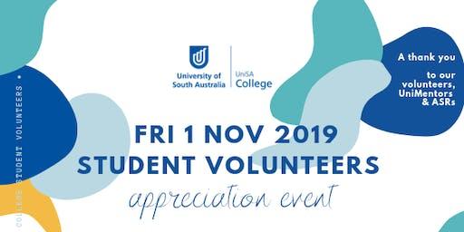 UniSA College Student Volunteers Appreciation Event