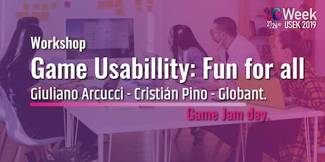Workshop Game Usabillity - Vg Week 2019 entradas