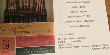 Organ Restoration Concert tickets