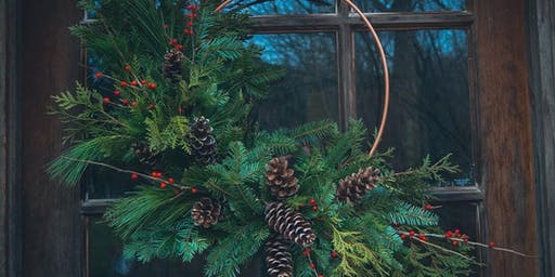 Copper Ring Wreath Workshop at Leigh's Garden Winery