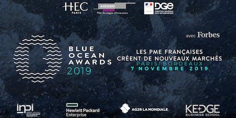 Blue Ocean Awards 2019, Nos Entreprises créent de nouveaux marchés ! tickets