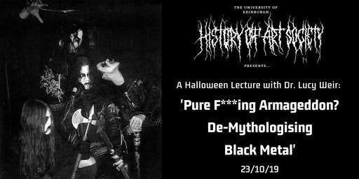 Halloween Lecture: Pure F**cking Armageddon with Dr Lucy Weir
