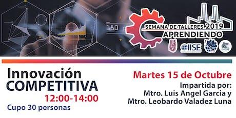 Innovación Competitiva | Semana de Talleres Aprendiendo tickets