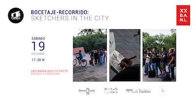 Bocetaje-recorrido: Sketchers in the city