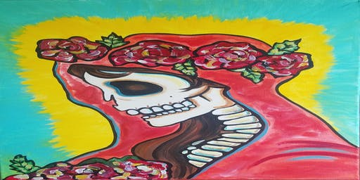 Santa Muerte Sip & Paint