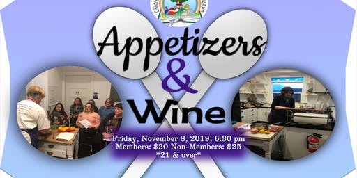 Appetizers & Wine Cooking Demo