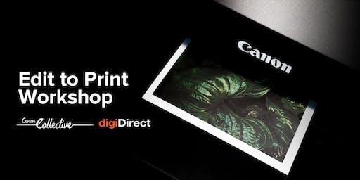 Edit to Print Workshop - Sydney