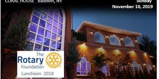 Rotary Foundation Luncheon Sun Nov 10th