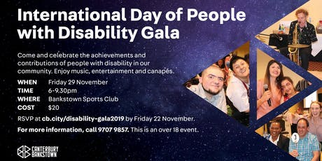 International Day of People with Disability Gala tickets