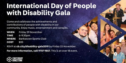 International Day of People with Disability Gala